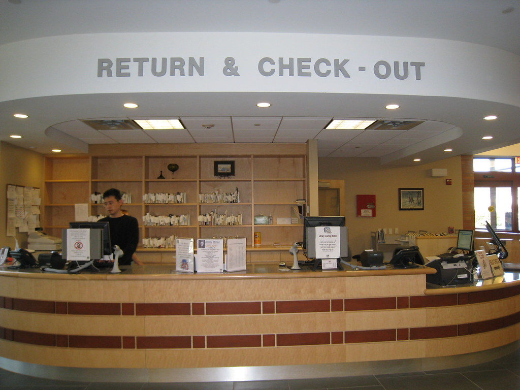 Circulation Desk  Circulation Desk Check out return rene  Flickr
