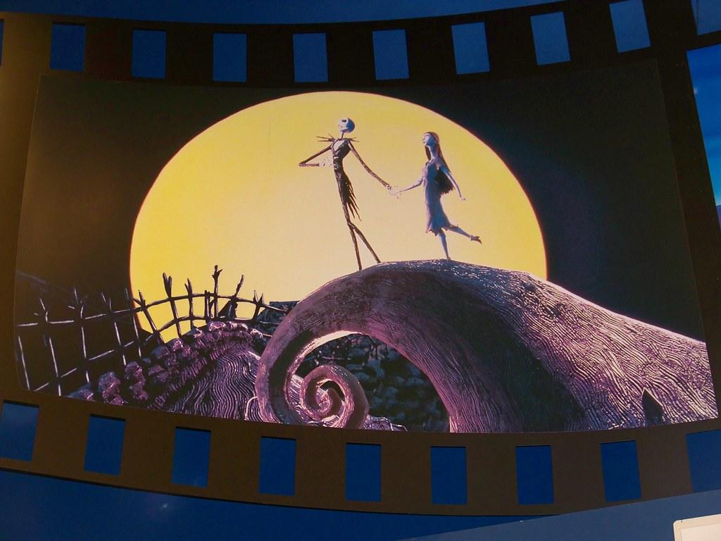 Nightmare Before Christmas film strip scene in Disneys So