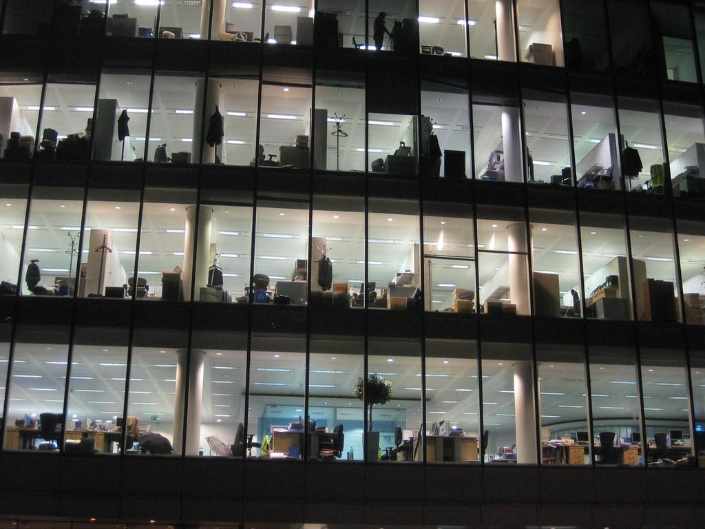 3d Office Wallpaper More Office Windows At Night Matt Brown Flickr