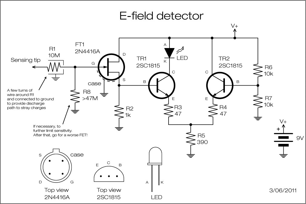led circuit diagram 2000 gmc sierra 2500 stereo wiring e-field-detector schematic | - this is a simple el… flickr