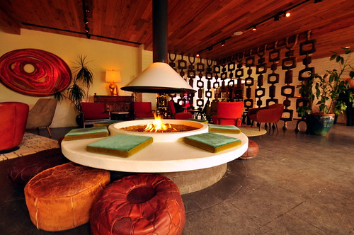 Parker Palm Springs Hotel  Lobby Lounge Area  Chimay