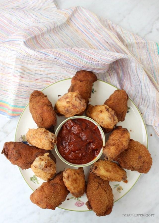 pollo fritto e ketchup homemade
