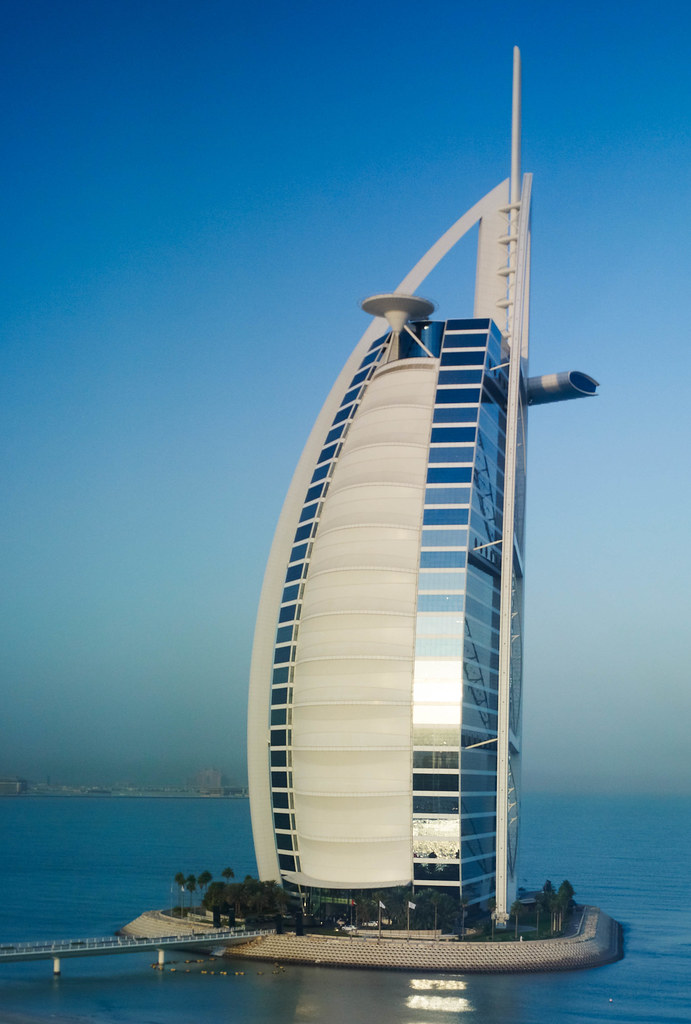 Burj Al Arab  View from my hotel room at the Jumeirah