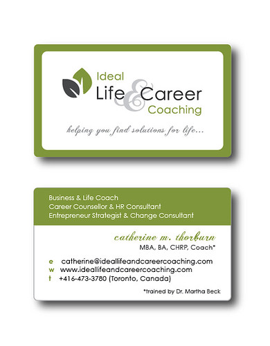 Ideal Life & Career Coaching business card | designed by ...