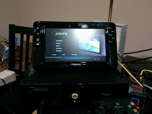 XBMC installed on the XBox  Got the latest T3CH build of
