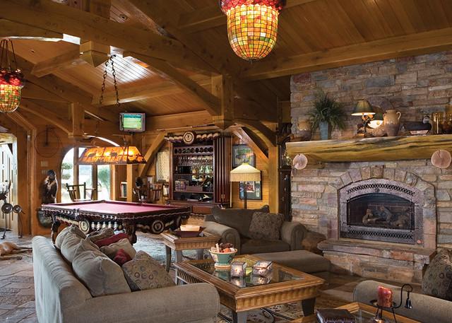 Ultimate Getaway Home Timber Frame Home  Games Room  Flickr
