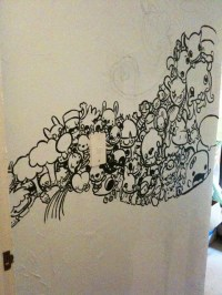 Doodling on a wall | Progress! The start of a wall doodle ...