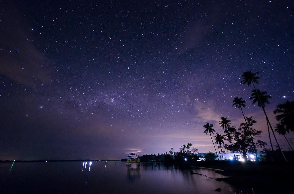 Free Hd Wallpapers Milky Way Taken At Kuala Penyu Sabah Malaysia Esmar