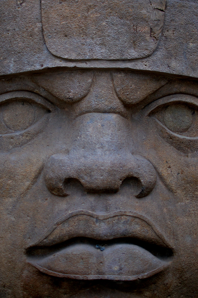 San Lorenzo Olmec Head Weighing 18 Tons On The Grounds