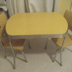 1950 S Yellow Formica Table And Chairs Baby Bath Swivel Chair Childs My Birthday Present Kim Flickr