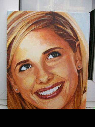 Sarah Michelle Gellar Traditional Portrait Painting  Flickr