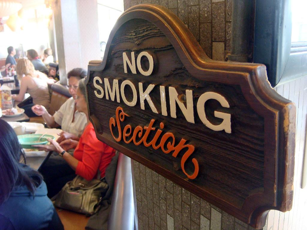 01b Norms Restaurant  No Smoking Sign E  Norms