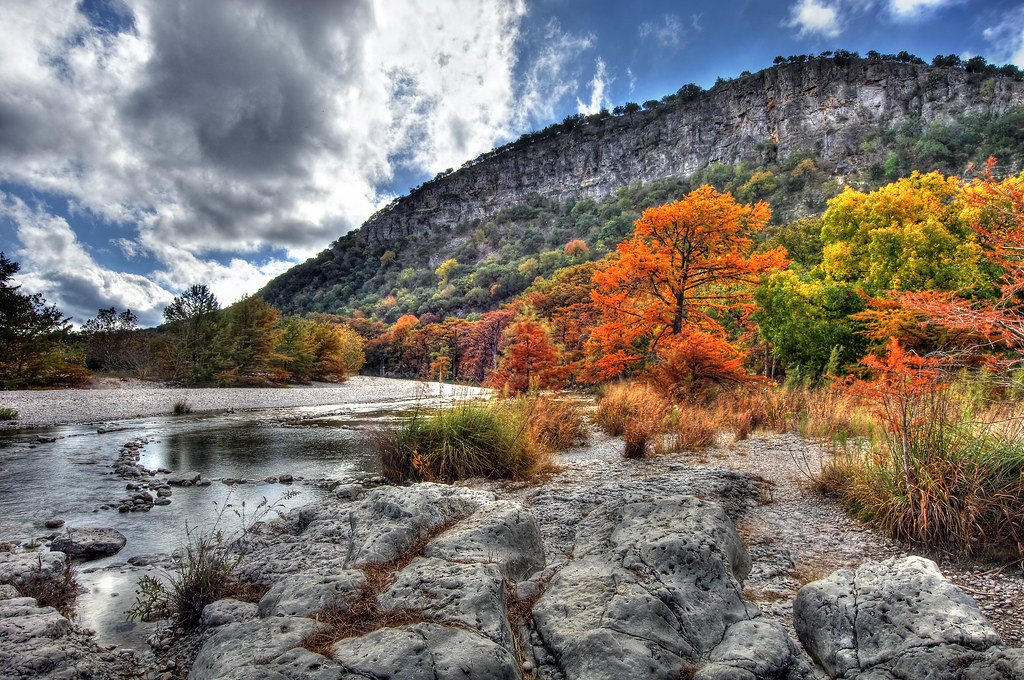 Fall Color Wallpaper Widescreen Garner State Park Fall Colors Hdr Fall Color Along The