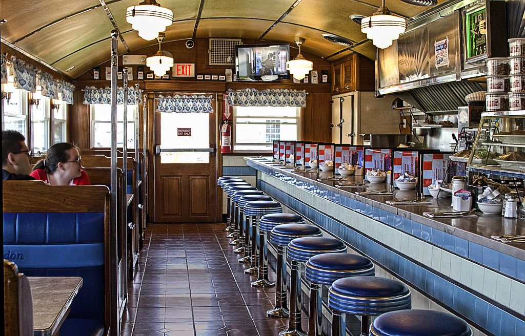 Miss Mendon Diner Interior On Easter Sunday Just Before