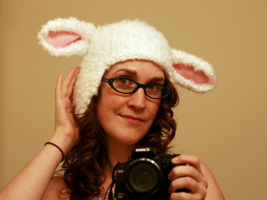 knitted lamb hat  ravelry  includes tutorial for the ears  Flickr