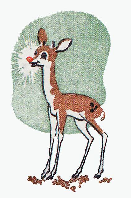 Vintage Rudolph Original Illustration Style For Rudoloph