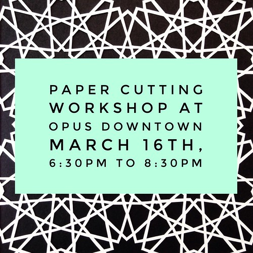 Creative Paper Cutting Party at Opus Art Supplies
