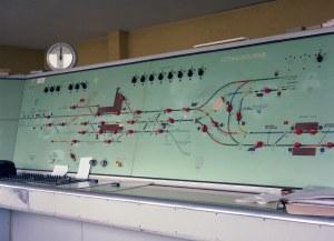 Sittingbourne Signal Box panel | This is the track diagram