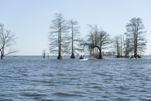 Lake Moultrie and Santee Canal with LCU-128