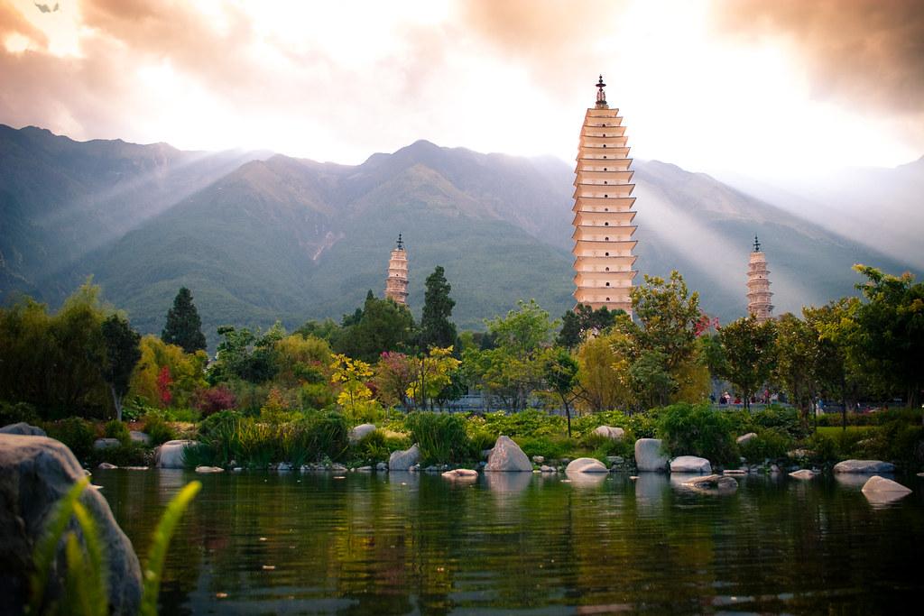 Wallpaper Fall River Ma Three Pagodas Old Dali Alexander Savin Flickr