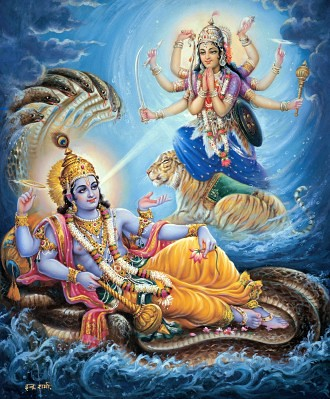 God Laxmi 3d Wallpaper Vishnu And Yogmaya Check Out My Durga Maa Videos At Www