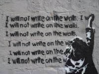 I will not write on the walls. | Barb Nerdy | Flickr