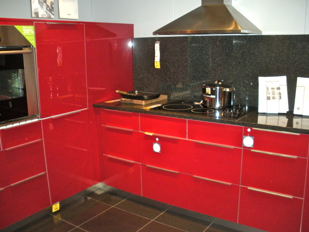 Ikea Red Kitchen  Apartment Renovations 1109  Studio Sarah Lou  Flickr