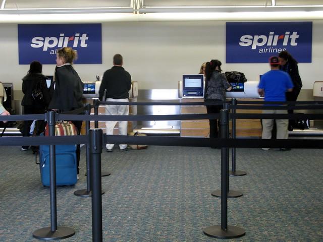Spirit Airlines crew