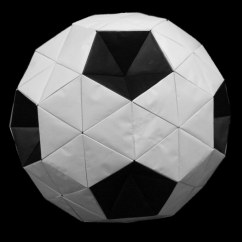 Soccer Ball Modular Origami Diagram Honeywell Central Heating Timer Wiring Truncated Icosahedron Quotsoccer Quot Ori