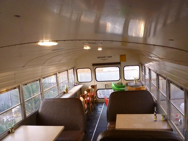 Food Shark dining car school bus 7  1989 Blue Bird 72