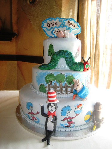 Once Upon a Time  Storybook Baby Shower Cake  This cake wa  Flickr
