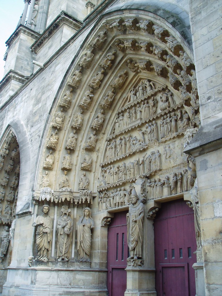 reims cathedral west portals