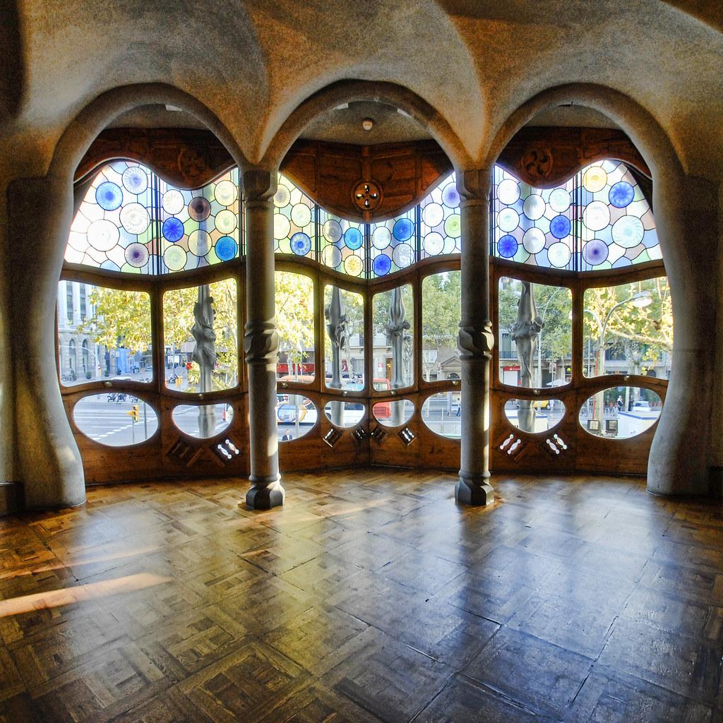 Spain  Barcelona  Casa Batllo Interior  sq v2  To