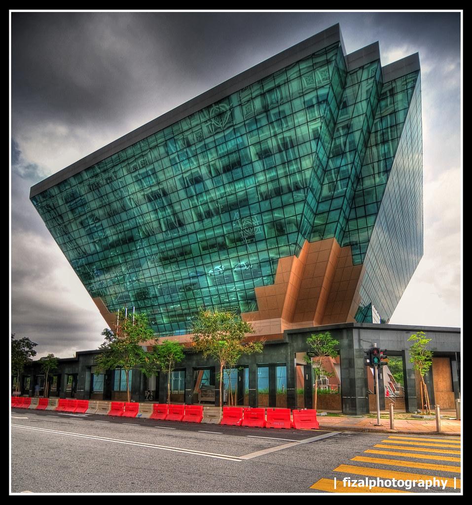 Glass Trapezium or Trapezoid Buildingin HDR Energy Com