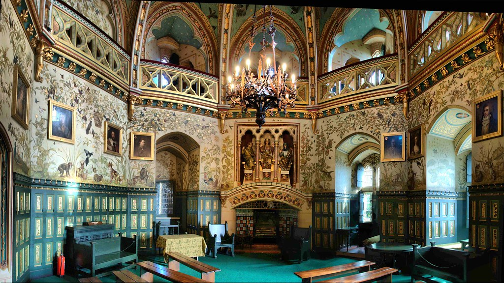 Castell Coch drawing room  This is a stich from 8 pics Late  Flickr