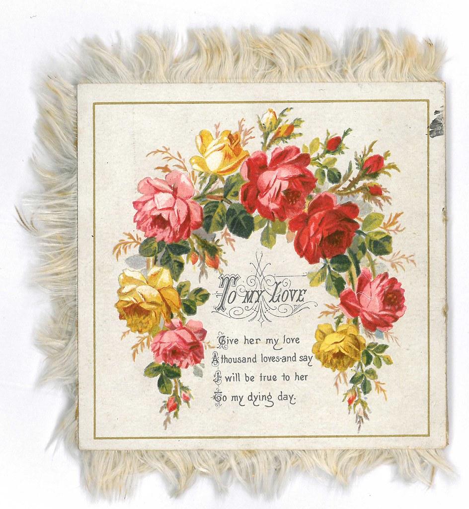 Victorian Valentines Card With Rose Design M3782 Flickr