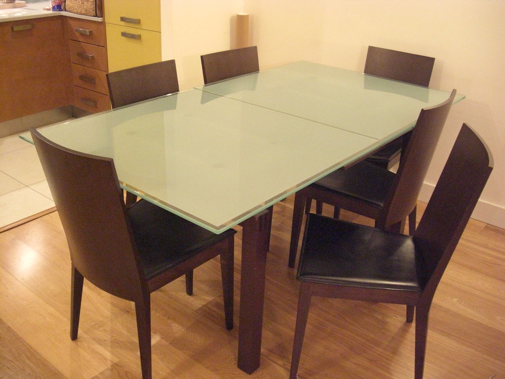 frosted glass dining table  wakosan  Flickr