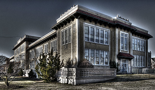 Albert H Hill Middle School  This is a dark version of