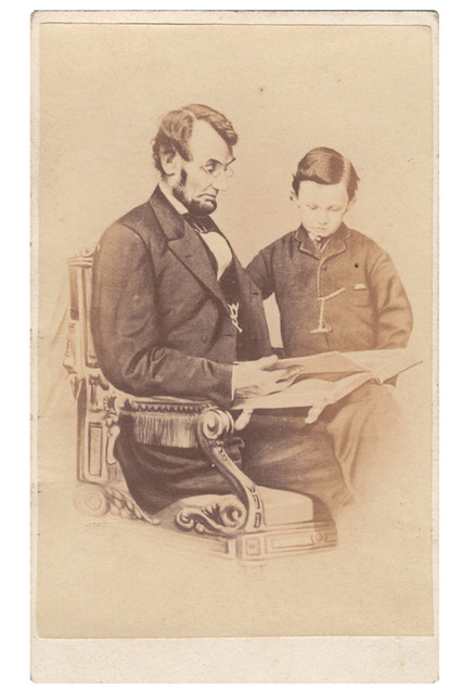 Abraham Lincoln and Son Tad From Original Photograph by A