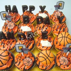 Kitchen C Area Rugs For Under Tables Cupcakes-basketball Andre | Basketball Themed Cupcakes ...