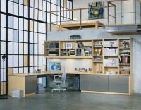 Loft Home Office Studio | Custom Home Office closets and ...