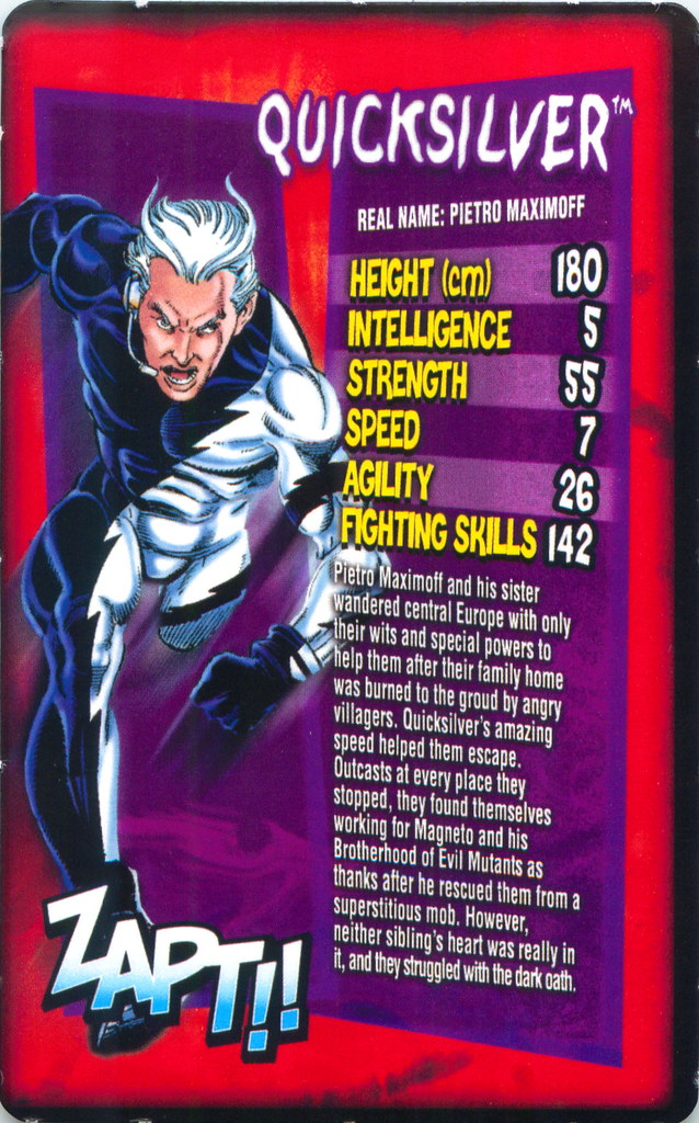 Daily Mirror Marvel Top Trumps Card  Mark Anderson  Flickr