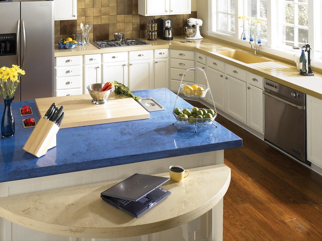 blue kitchen countertops black light fixtures dupont zodiaq ocean parksite incorporated flickr