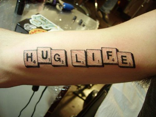 hug life tattoo  By Gene Coffey at Tattoo Culture tattoocul  Flickr