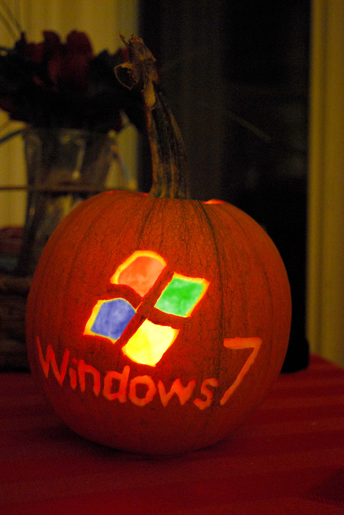 Windows 7 Pumpkin with Photoshop Coloring  I just