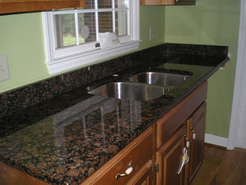 Dark Baltic Brown Granite Countertop with Sink  Remodeling  Flickr