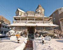 Ocean Grove Jersey Snow Day Majestic Hotel
