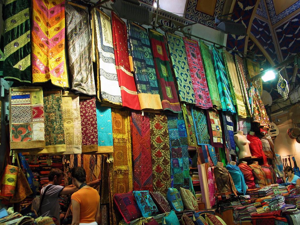 Istanbul  October 2008  Fabrics in the Grand Bazaar  Flickr