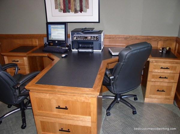 home office computer desks for two people Custom Cherry Partner Desk (Two Person). | Custom made Cherr… | Flickr