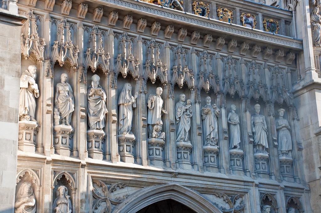 West Door Detail Westminster Abbey London Nov 2009